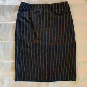Denim Pin Striped Pencil Skirt-NWT